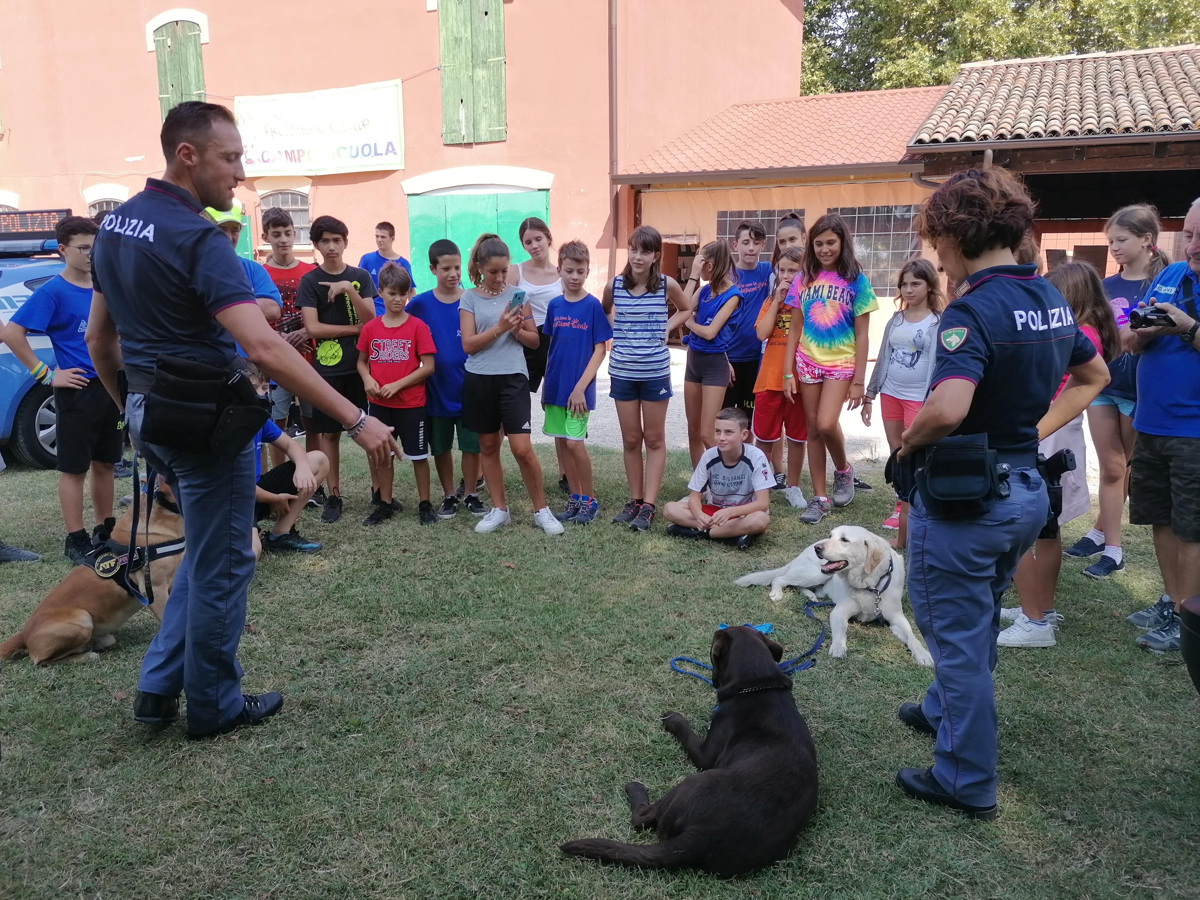 Campo scuola Anch'io sono la protezione civile sala Bol. 2019 (foto: gpc_pc)