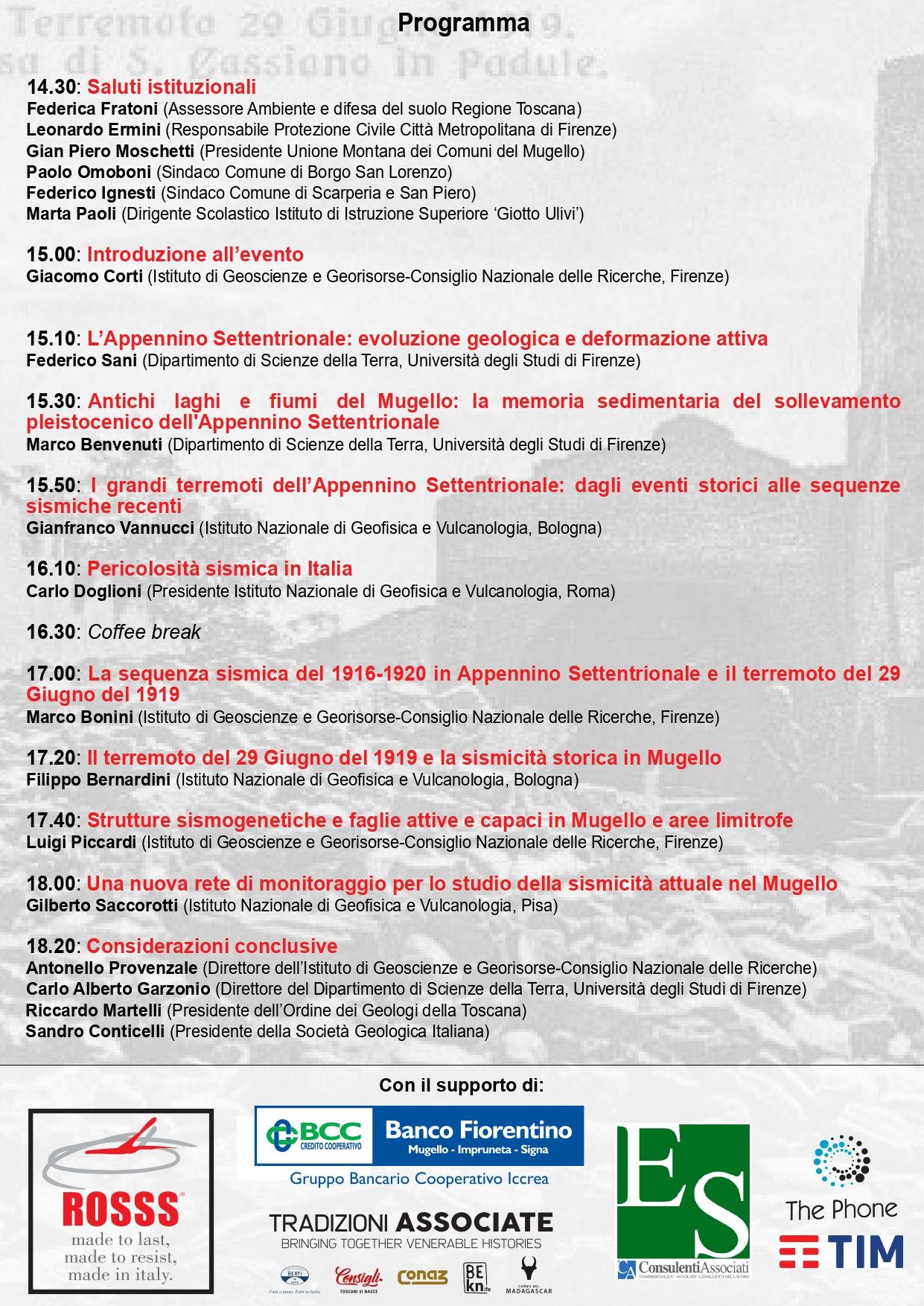 Convegno Mugello 14/12/19 - programma