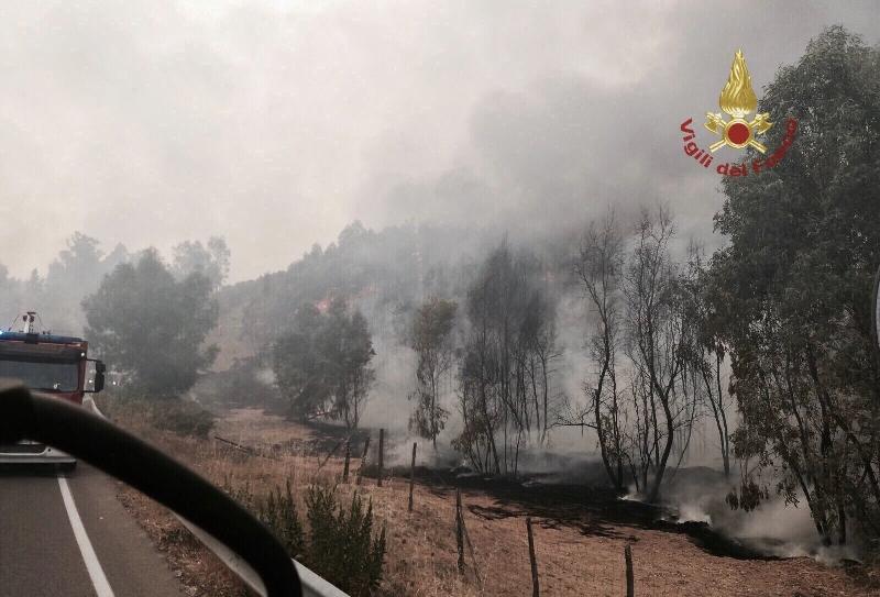 Roghi a Schiavi d'Abruzzo, squadre antincendio in azione